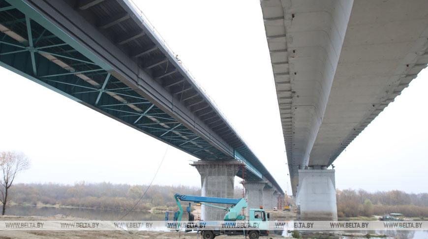 Под Гомелем начались испытания нового моста через Сож