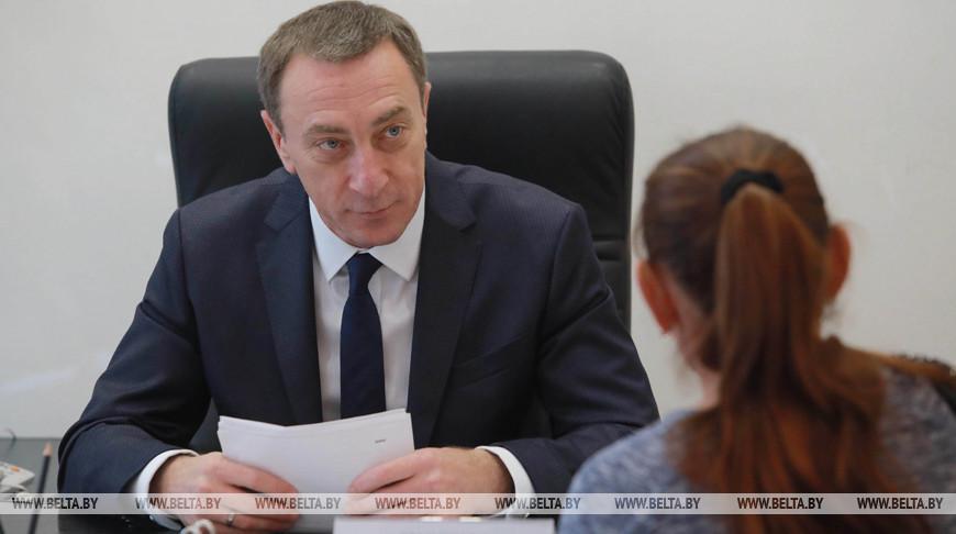 Снопков провел прием граждан в Белыничском райисполкоме
