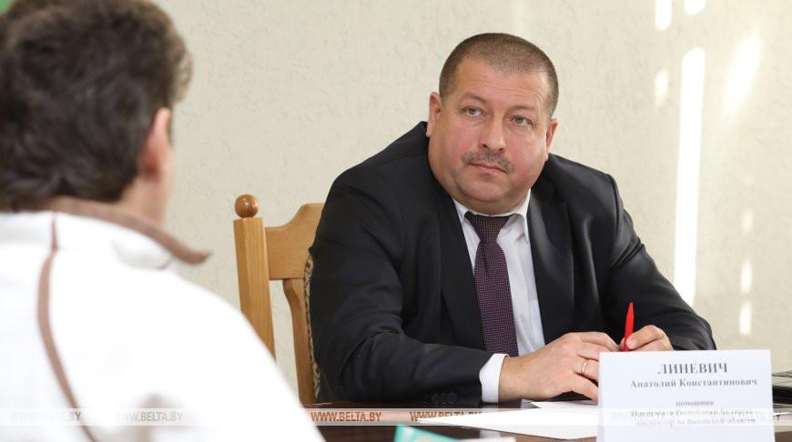 Линевич провел прием граждан и прямую телефонную линию в Городокском райисполкоме