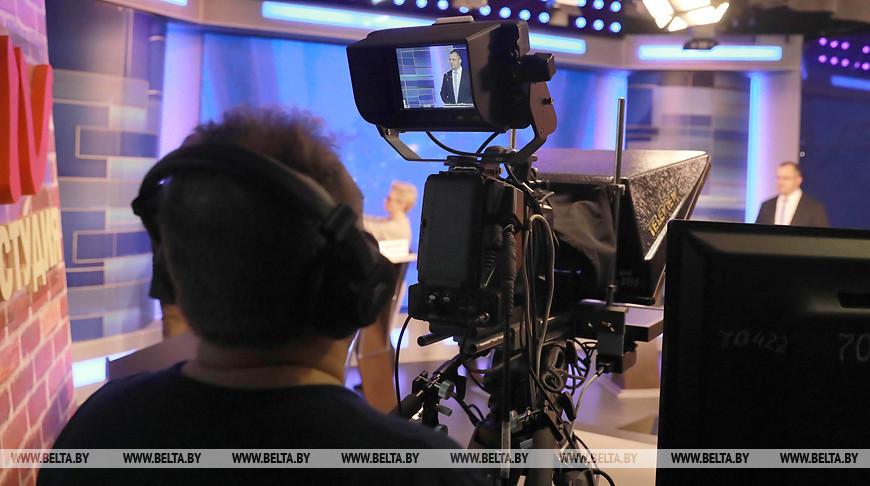 В могилевской телестудии записывают выступления кандидатов в депутаты