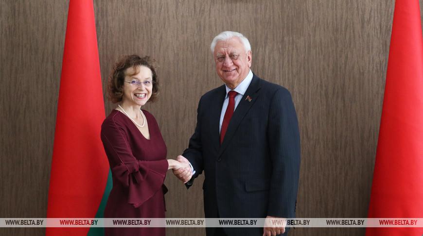 Мясникович встретился с послом Австрии в Беларуси