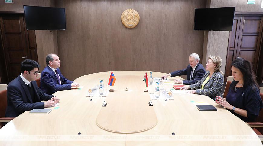 Щеткина встретилась с послом Армении в Беларуси