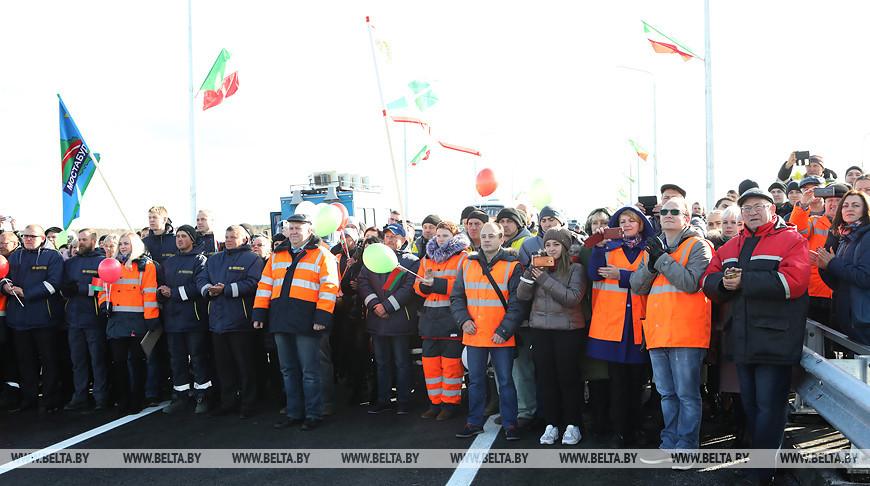 Движение по новому мосту через Сож открыто в Гомельском районе