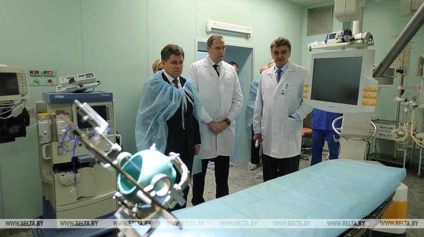 Участники заседания межведомственного совета по проблемам инвалидов посетили РНПЦ неврологии и нейрохирургии