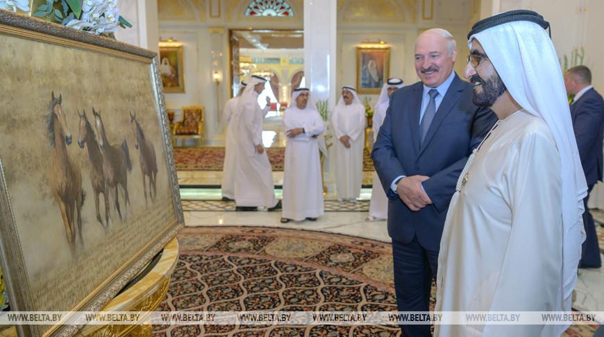 Лукашенко в ОАЭ обсудил с вице-президентом перспективные проекты