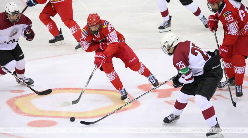 Белорусские юниоры победили латвийских хоккеистов в матче Кубка Президентского спортивного клуба