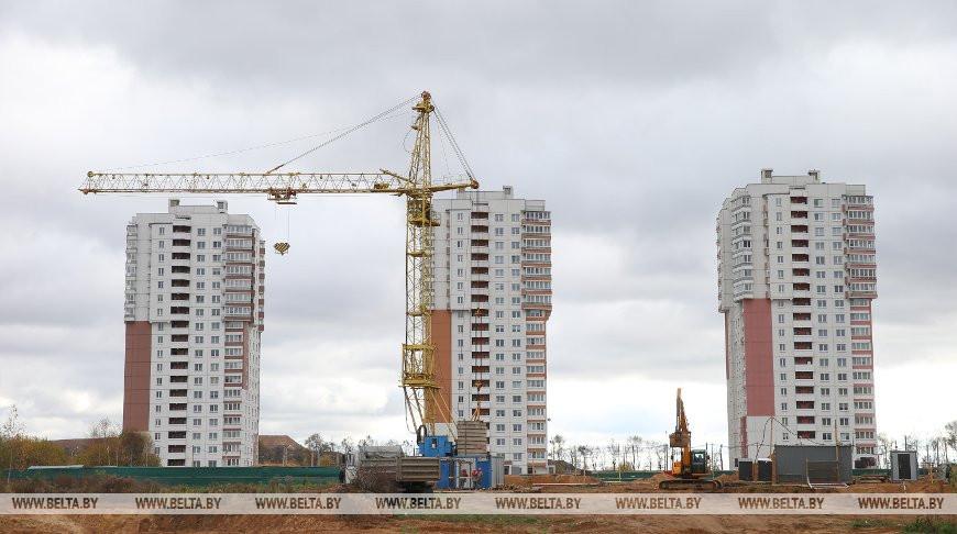 Продолжается застройка жилого района Лошица в Минске