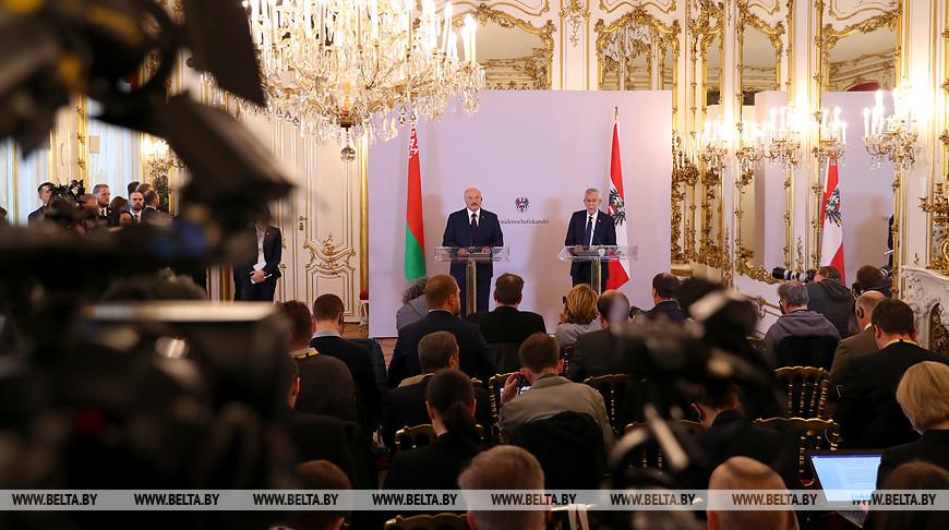 Лукашенко ответил на вопросы журналистов после переговоров с Федеральным президентом Австрии Александром Ван дер Белленом