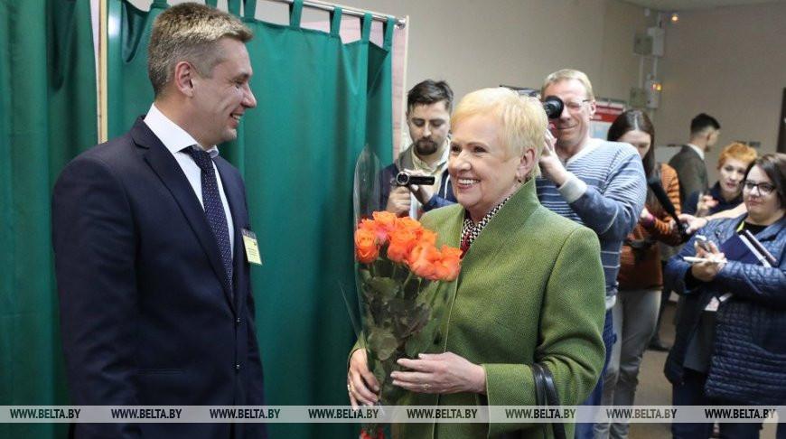 Ермошина приняла участие в досрочном голосовании