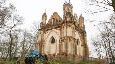 В часовне-усыпальнице рода Ожешко в Закозеле начались восстановительные работы