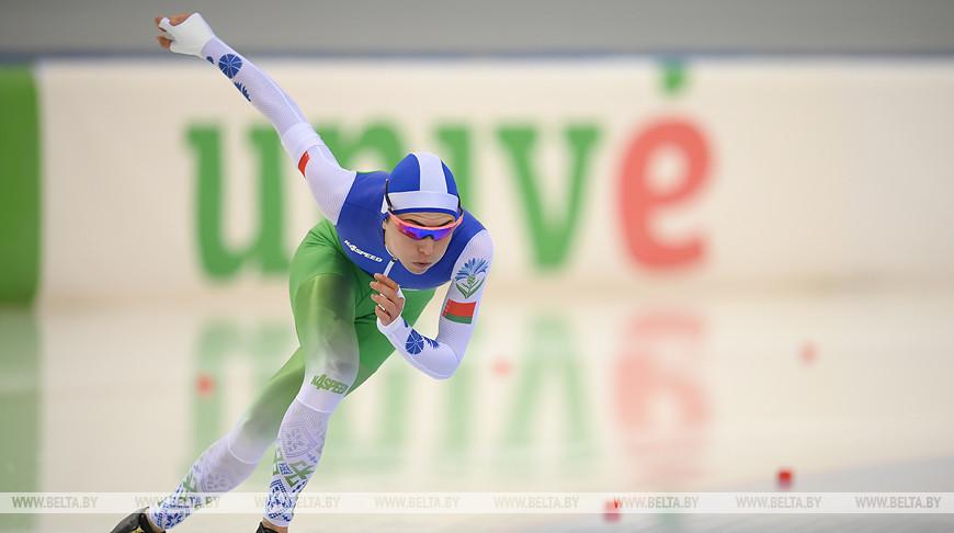Белоруска Марина Зуева заняла 6-е место на 1500 м этапа КМ по конькобежному спорту в Минске