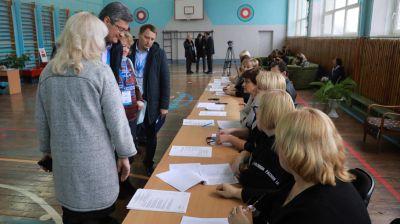 Наблюдатели от СНГ посетили избирательный участок №62 в Могилеве