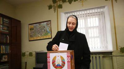 Монахини Гродненского Свято-Рождество-Богородичного монастыря приняли участие в выборах