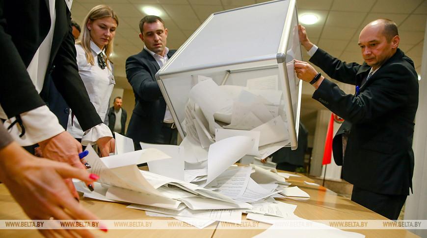 Голоса избирателей считают в Минске