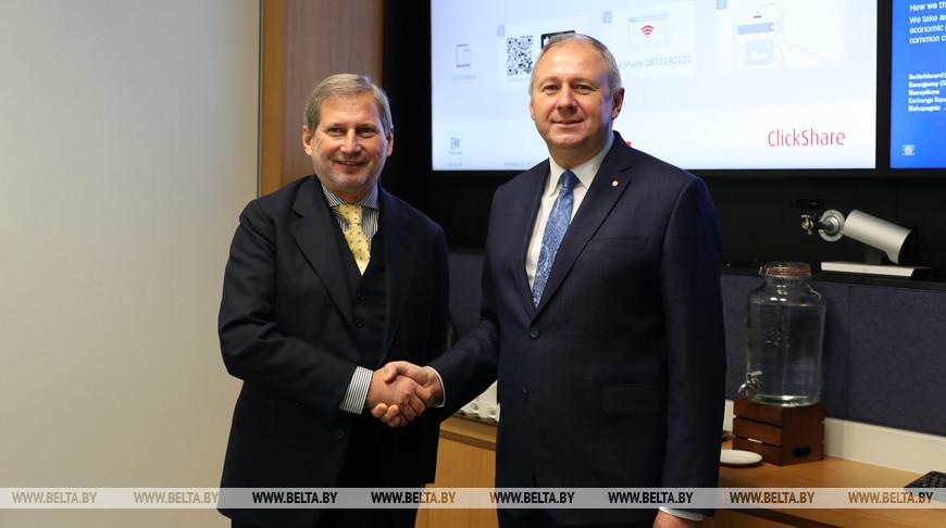 Румас встретился с еврокомиссаром по вопросам расширения и политики добрососедства