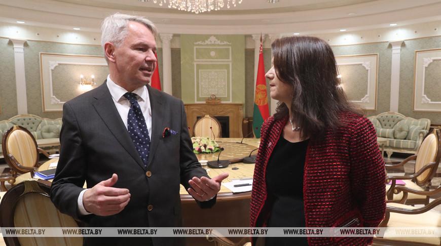 Лукашенко встретился с министрами иностранных дел Швеции и Финляндии