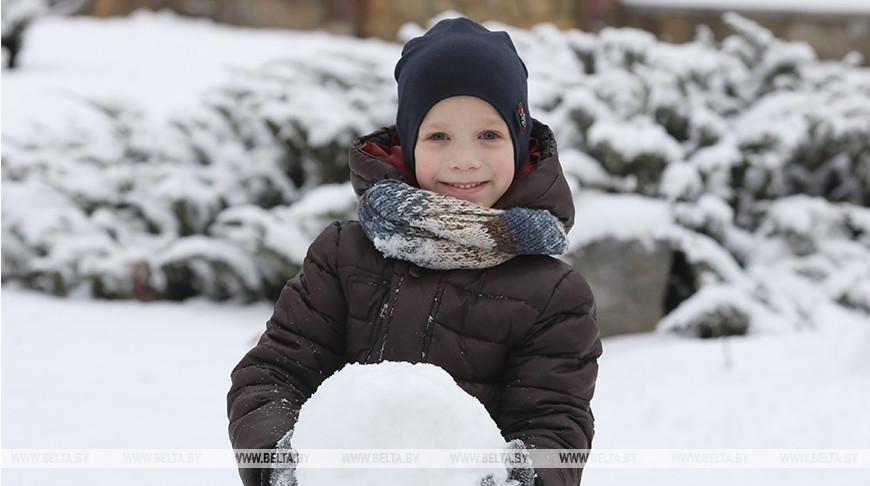 В Витебске выпал снег