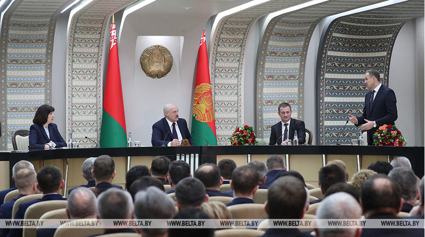 Лукашенко провел совещание с активом Минской области