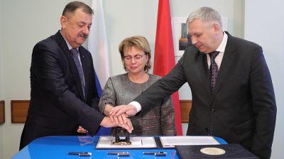 Гашение почтового блока к 20-летию подписания Договора о создании СГ состоялось в Минске