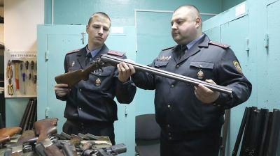 У жителей Витебской области за три года изъято более 1 тыс. единиц оружия