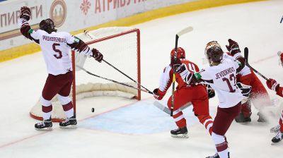 Латвия победила Данию в матче молодежного ЧМ по хоккею в Минске