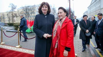 Кочанова встретилась с парламентской делегацией Вьетнама во главе с председателем Национального собрания Нгуен Тхи Ким Нган
