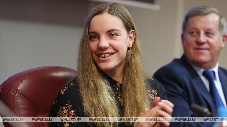 Чествование чемпионки Европы по плаванию Анастасии Шкурдай прошло в Бресте