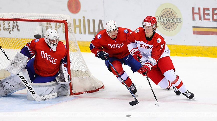 Норвегия по буллитам обыграла Данию на молодежном ЧМ по хоккею в Минске