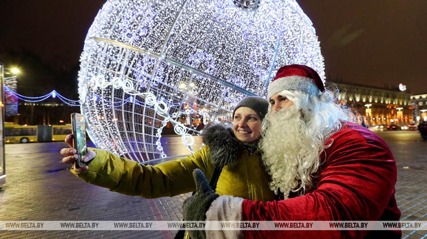 Минск засиял новогодними огнями