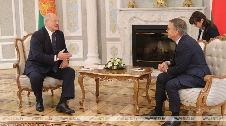 Лукашенко встретился с президентом Международной федерации хоккея (IIHF) Рене Фазелем