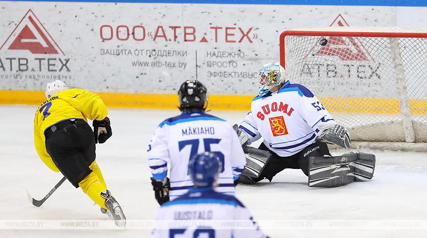 Финны обыграли хоккеистов Украины на Рождественском турнире в Минске