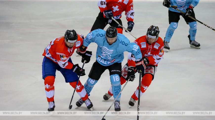 Сборная Балтии победила команду Швейцарии на Рождественском турнире в Минске
