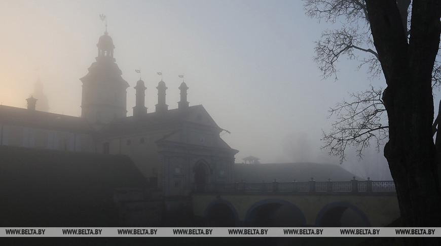 Туман в Несвижском замке