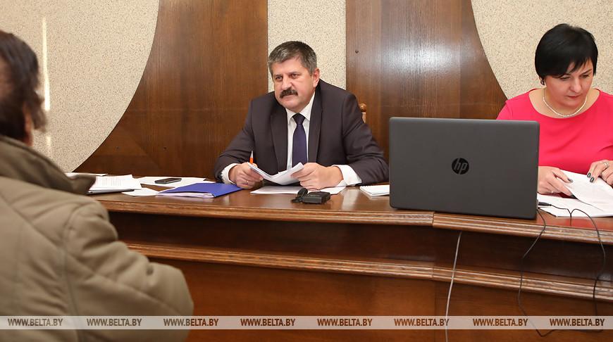 Председатель Гомельского облисполкома провел прием граждан в Мозыре