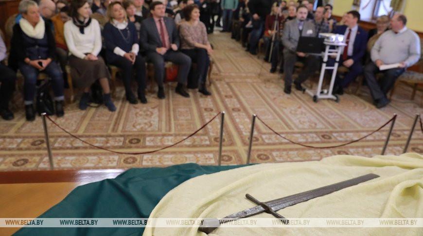 В Музее истории Могилева презентовали 500-летний меч