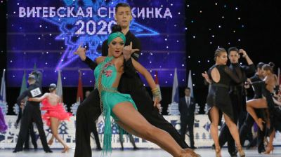 """Танцевальные пары из 20 стран мира принимают участие в """"Витебской снежинке"""""""