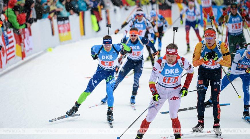 Белорусские биатлонисты стали шестыми в эстафете на этапе КМ в Рупольдинге