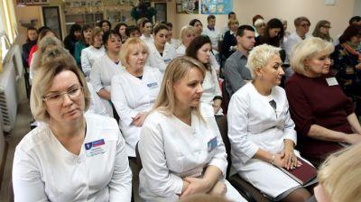 Соловей встретился с трудовым коллективом Добрушской ЦРБ