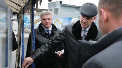 Кухарев посетил ряд строительных площадок в Могилеве