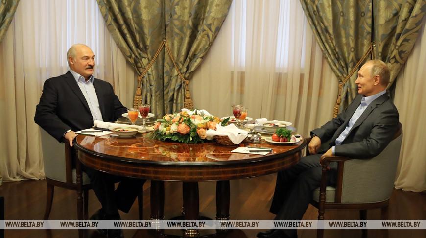 Лукашенко и Путин провели встречу в Красной Поляне