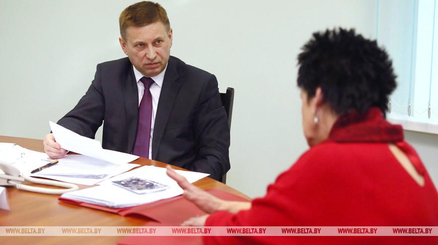 Лавринович провел прием граждан