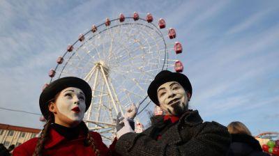 В День влюбленных в Гродно начало работать колесо обозрения