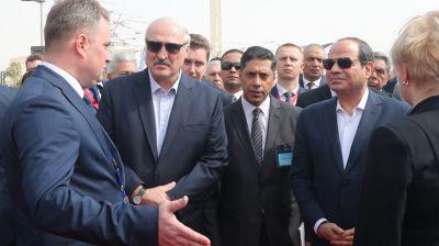 Александр Лукашенко и Абдель Фаттах ас-Сиси ознакомились с белорусско-египетской выставкой