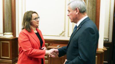 Андрейченко встретился с постоянным координатором ООН в Беларуси Иоанной Казана-Вишневецкий