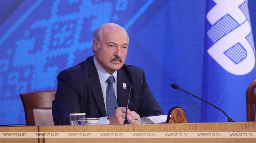 Лукашенко принял участие в VIII съезде Федерации профсоюзов Беларуси