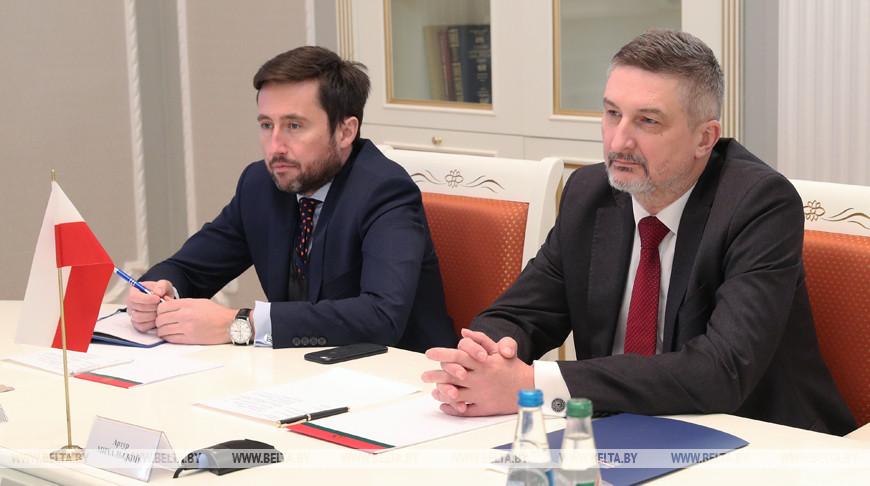 Равков встретился с Чрезвычайным и Полномочным Послом Польши в Беларуси