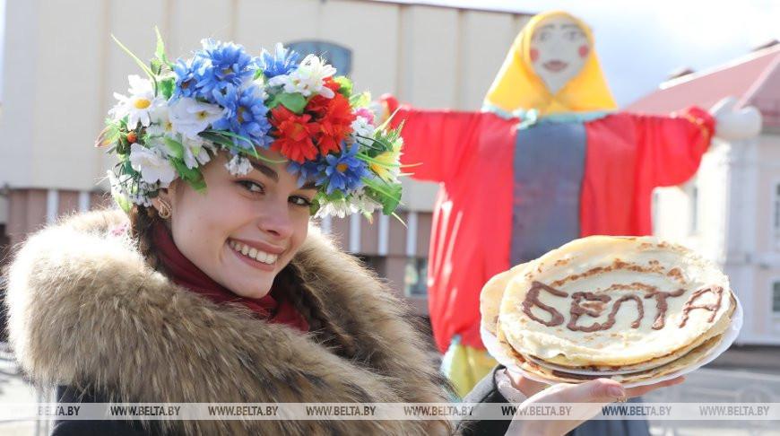 В Полоцке празднуют Масленицу