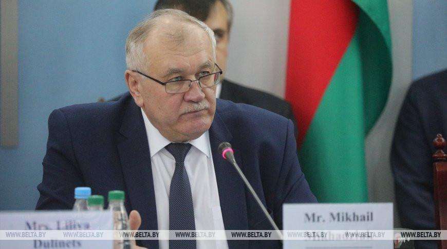Михадюк принял участие в совещании по подведению итогов миссии МАГАТЭ