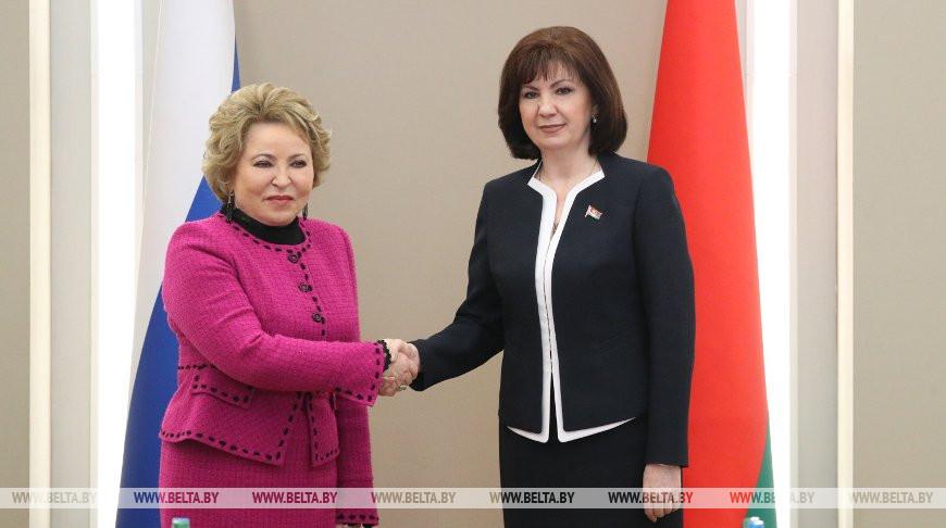 Кочанова встретилась со спикером Совета Федерации Федерального собрания РФ