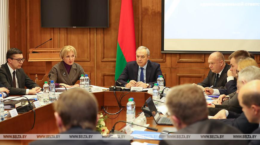 Работа ведется в формате нон-стоп - в Беларуси подготовили черновые проекты КоАП и ПиКоАП